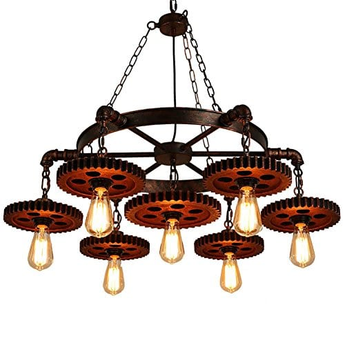 Surpars House Industrial Rustic Chandelier Pendant Light, Dining Room lighting