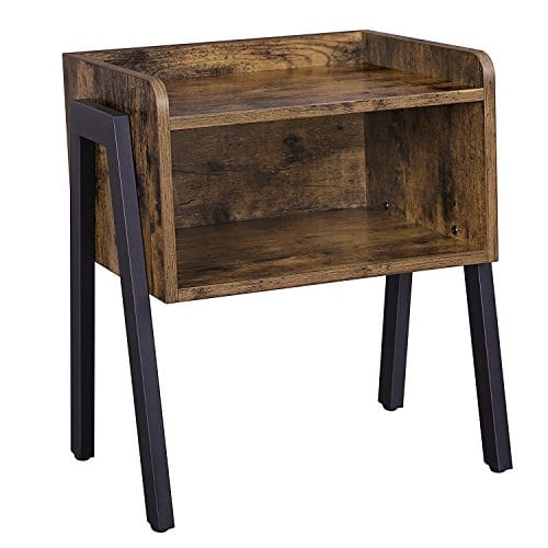 VASAGLE Industrial Rustic Night Stand Side Table End Table