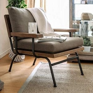 HOMES: Inside + Out IDF-AC6077 Yenitt Industrial Accent Chair