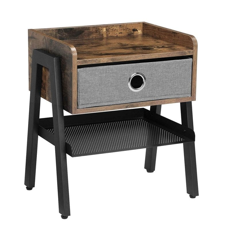 VASAGLE Industrial Nightstand End Table