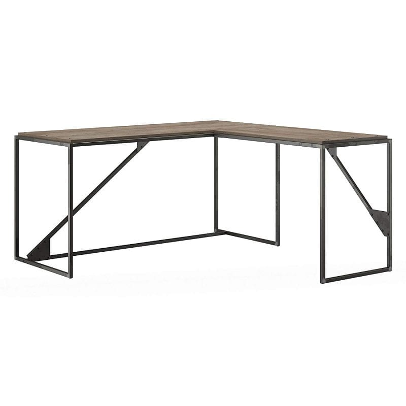 The Bush Furniture Industrial L Shaped Desk