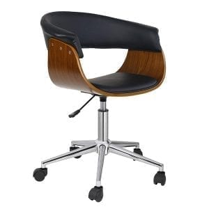 Porthos Home KCH012A BLK Liam Industrial Office Chair, Black