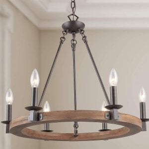 LNC Rustic Farmhouse Industrial Chandelier Lighting Pendant