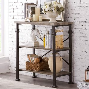 3-Tier Rustic Industrial Style Bookcase